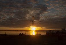 Por do sol de Largs Fotografia de Stock