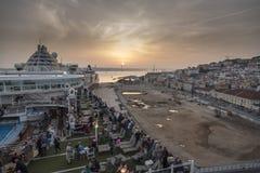 Por do sol de Lisboa Imagens de Stock