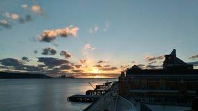 Por do sol de Lisboa Fotografia de Stock Royalty Free