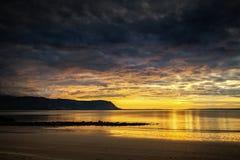 Por do sol de Llandudno Imagens de Stock Royalty Free