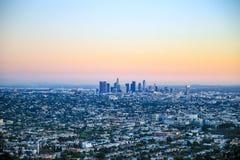 Por do sol de Los Angeles imagens de stock royalty free
