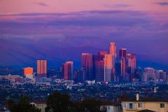 Por do sol de Los Angeles Fotografia de Stock