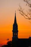 Por do sol de Lovley Fotografia de Stock