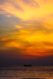 Por do sol de Lung Kwu Tan Coastline Foto de Stock