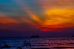 Por do sol de Lung Kwu Tan Coastline Foto de Stock Royalty Free