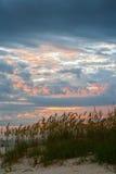 Por do sol de Madeira Fotografia de Stock