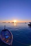 Por do sol de Maldivas imagem de stock