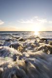 Por do sol de Malibu fotografia de stock