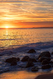 Por do sol de Malibu Foto de Stock Royalty Free