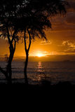Por do sol de Maui Fotografia de Stock Royalty Free