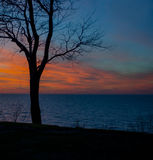 Por do sol de Michigan Imagem de Stock Royalty Free