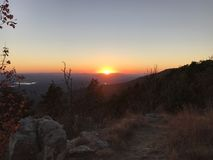 Por do sol de Mountain View Imagens de Stock