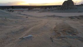 Por do sol de Mungo Australian Outback Desert Landscape do lago video estoque