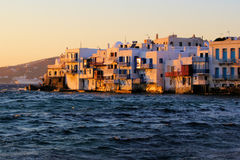 Por do sol de Mykonos Foto de Stock Royalty Free