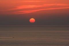 Por do sol de Mykonos Imagens de Stock Royalty Free