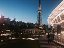 Por do sol de Nagoya Fotos de Stock Royalty Free