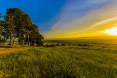 Por do sol de Nahalal Imagem de Stock