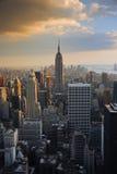 Por do sol de New York City Foto de Stock