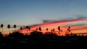 Por do sol de Norcali Foto de Stock Royalty Free