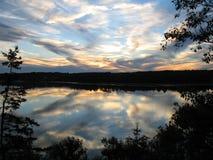 Por do sol de Nova Escócia Foto de Stock Royalty Free