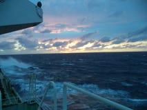 Por do sol de Oceano Atlântico Foto de Stock