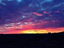 Por do sol de Oklahoma Imagem de Stock