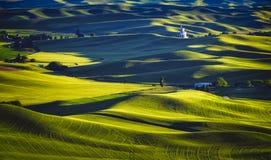 Por do sol de Palouse, Washington Imagens de Stock