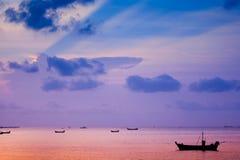 Por do sol de Pattaya foto de stock