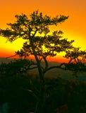 Por do sol de pedra do parque estadual da montanha Fotografia de Stock