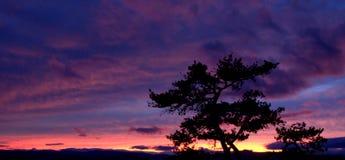Por do sol de pedra do parque estadual da montanha Imagens de Stock Royalty Free