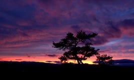 Por do sol de pedra do parque estadual da montanha Imagem de Stock