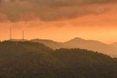 Por do sol de Penang Imagem de Stock