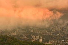 Por do sol de Penang Foto de Stock Royalty Free
