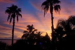 Por do sol de Pensacola Fotografia de Stock