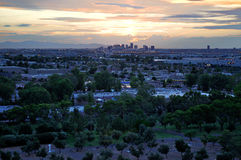 Por do sol de Phoenix Imagem de Stock