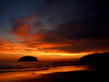 Por do sol de Phuket Fotografia de Stock Royalty Free