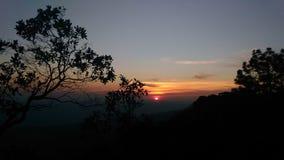 Por do sol de Phukradung Imagem de Stock Royalty Free