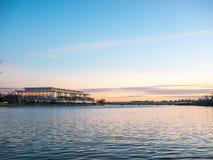 Por do sol de Potomac imagem de stock