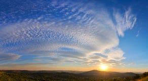 Por do sol de Pretoria imagens de stock