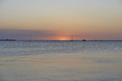Por do sol de Punta Gorda Foto de Stock
