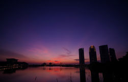 Por do sol de Putrajaya Foto de Stock Royalty Free