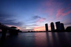 Por do sol de Putrajaya Foto de Stock