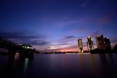 Por do sol de Putrajaya Imagens de Stock Royalty Free