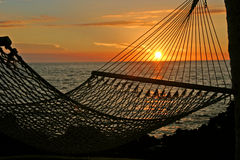Por do sol de relaxamento Imagens de Stock