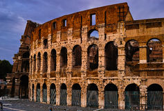 Por do sol de Roma Colosseum Fotos de Stock Royalty Free