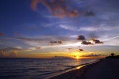 Por do sol de Sanibel Foto de Stock Royalty Free