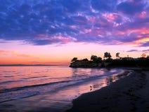 Por do sol de Santa Barbara foto de stock