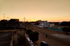 Por do sol de Senegal Foto de Stock