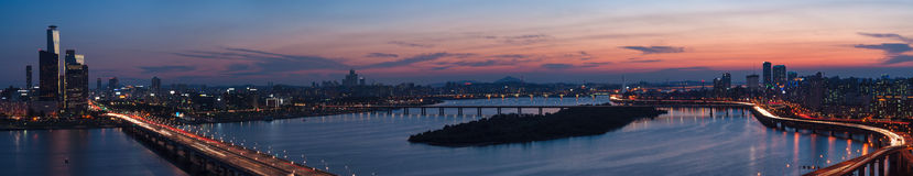 Por do sol de Seoul Foto de Stock Royalty Free