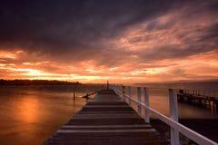 Por do sol de Shoalhaven Imagem de Stock Royalty Free